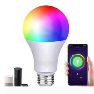 DHgate smart wifi led bulb work with amazon alexa & google home rgb + warm light + white light e27 7w ac85-265v led bulb light