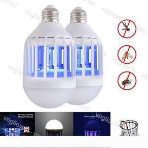 DHgate led bulbs mosquito killer 110v 220v 12w for hallway balcony kitchen bedroom uv trap plastic pc cover high brightness smd2835 eub