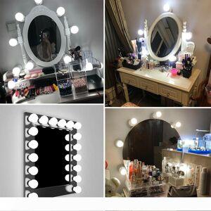 DHgate energy saving12v makeup mirror led light bulb dimmable kit for dressing table vanity hollywood style led mirror light bulbs ms010