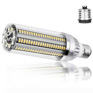 DHgate high power corn light e27 led lamp 25w 35w 50w candle bulb 110v e26 led bulb aluminum fan cooling no flicker light 2835