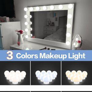 DHgate led 12v makeup mirror light bulb hollywood vanity lights stepless dimmable wall lamp 6 10 14bulbs kit for dressing table led010