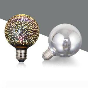 DHgate crestech 3d decoration led light bulb with e26 base fireworks ball filament bulb for home bar party (g95)