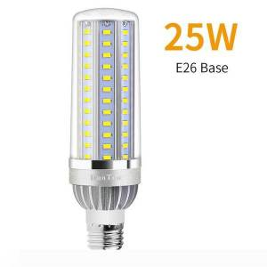 DHgate high power corn light e27 led lamp 25w 35w 50w candle bulb 110v e26 led bulb aluminum fan cooling no flicker light 2835.