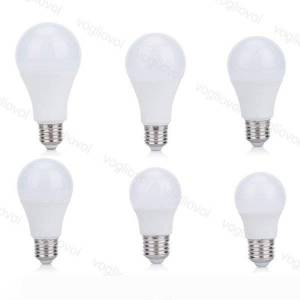 DHgate led bulbs 110v 220v 3w 5w 7w 9w aluminium plastic smd2835 pc cover cool warm white for table light pendant floor lights eub
