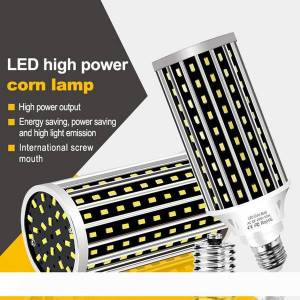 DHgate ac100-277v e27 50w 2835 fan cooling led corn light bulb without lamp cover for indoor home decoration droplight street spotlight led011