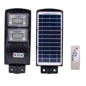 DHgate 60w 120 leds solar sensor outdoor light with light control and radar built-in sensor black for park, garden, courtyard, street,