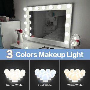 DHgate 12v led makeup mirror light led bulbs hollywood vanity led lights dimmable wall lamp 2 6 10 14bulbs kit for dressing table led010