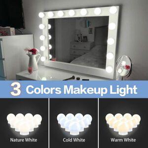 DHgate led mirror light 12v makeup led bulbs hollywood vanity led lights dimmable wall lamp 2 6 10 14bulbs kit for dressing table led010