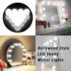 DHgate 12v makeup mirror light bulb hollywood vanity lights stepless dimmable wall lamp 6 10 14bulbs kit for dressing table