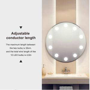 DHgate discount 12v makeup mirror light bulb hollywood vanity lights stepless dimmable wall lamp 6 10 14bulbs kit for dressing table