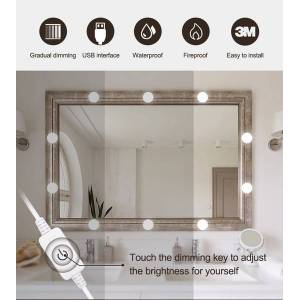 DHgate design 12v makeup mirror light bulb hollywood vanity lights stepless dimmable wall lamp 6 10 14bulbs kit for dressing table