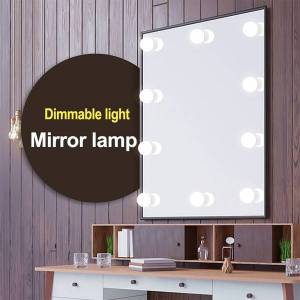 DHgate led 12v bulb hollywood vanity lights makeup mirror light stepless dimmable wall lamp 6/10/14 bulbs kit for dressing table wholesale