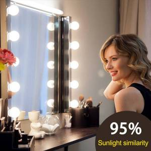 DHgate led 12v makeup mirror light bulb hollywood vanity lights stepless dimmable wall lamp 6 10 14bulbs kit for dressing table wholesale