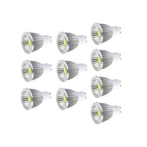 DHgate 10pcs gu10 spotlight bulb dimmable 6w/9w/12w warm/cold white ac110v/220v cob led downlight lamp