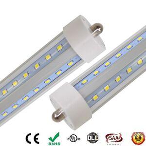 DHgate single pin led tube fa8 tube 60w v-shaped and dural row double sides smd 2835 led light tubes 8ft led ac85-265v ups fedex