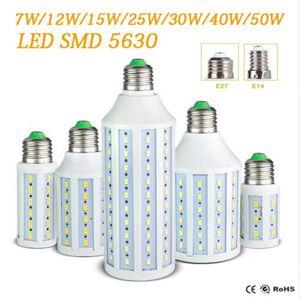 DHgate epacket led corn light e27 e14 b22 smd5630 85-265v 12w 15w 25w 30w 40w 50w 4500lm led bulb 360degree led lighting lamp 55