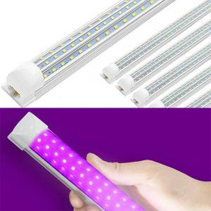 DHgate uv led blacklight ultraviolet uva lights tube t8 d shaped fixtures lamp for bar party club dj uv art rays sterilizer glue light