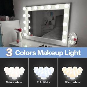 DHgate 6 10 14 bulbs kit for dressing table hollywood vanity lights stepless dimmable wall lamp led 12v makeup mirror light bulb led010