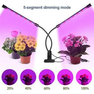 DHgate three lighting modes full spectrum led grow lights clip type plant grow lamp timed loop stepless dimming color plant growing lamp led005
