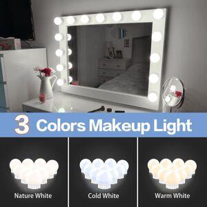 DHgate hollywood vanity lights stepless dimmable wall lamp led 12v makeup mirror light bulb 6 10 14bulbs kit for dressing table led010