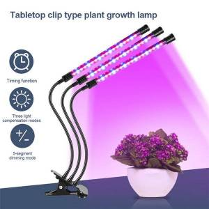 DHgate full spectrum led bulbs lights clip type grow lamps three lighting modes stepless dimming color timed loop plant growing lamp led005