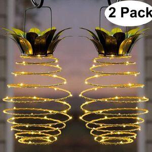 DHgate 2021 new prova dwaterproof gua pendurado lanternas solares abacaxi do jardim ao ar livre luzes de fadas caminho decorao da casa lmpada m3te