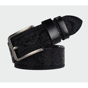 DHgate 100% cowhide carved genuine leather belts for men vintage belt design male strap ceinture homme100-125cm new belt ml024 y19051803