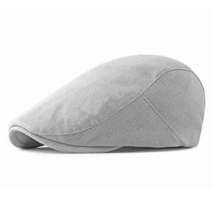 DHgate new spring, summer and autumn men's simple and lightweight berets british cotton linen wild cap wholesale
