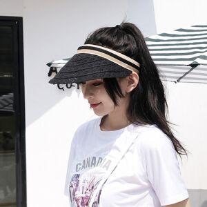 DHgate cotton linen empty hat female summer vacation sun sunscreen hats elegant lace cap korean version of the wild sun caps