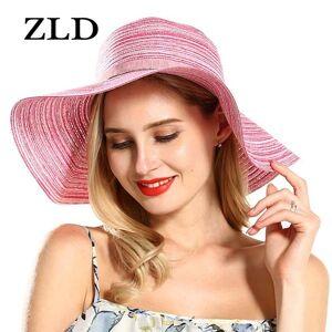 DHgate zld foldable beach straw hat female summer seaside big hat sunscreen sunshade travel wild big cool sun
