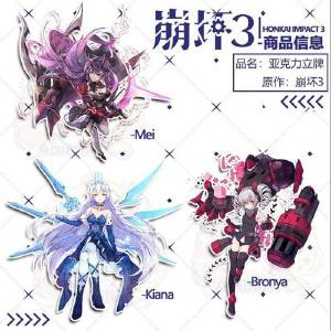 DHgate anime honkai impact 3 kiana bronya raiden mei acrylic stand figure display 15cm1