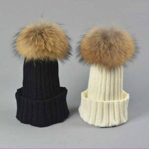 DHgate beanie/skull caps fashion selling good quality nice soft woolen women warm winter fur hat /cap with 15cm ball ,