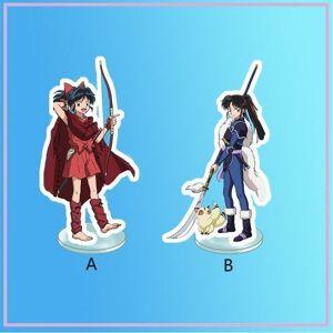 DHgate keychains anime stand yashahime princess half-demon moroha setsuna acrylic figure display deskdecoration 15cm