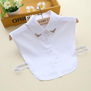 DHgate bow ties women fake collar ladies shirt cotton false for white solid color detachable lace lapel faux col tie