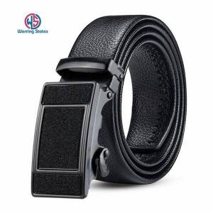 DHgate belts warring states black belt man leather for men automatic buckle business casual male 120cm width 3.5cm