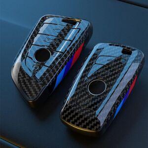 DHgate keychains carbon fiber car remote key case cover shell fob for x3 x5 x6 f30 f34 e60 e90 f10 e34 e36 f20 g30 f15 f16 1 2 3 4 5 7 series