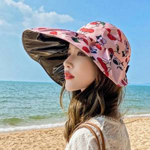 DHgate 2021 women's beach big brim summer travel sunscreen hat travels vacation fashion wild sun hats with box