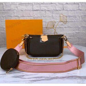 DHgate with date code women handbags multi pochette accessoires designer bag purses luxurys handbag favorite mini 3pcs pochettes accessories crossb