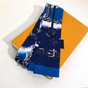 DHgate handkerchiefs classic silk handbag bag scarf headbands women letter flower scraves grade hair bands 8x120cm