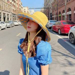 DHgate women hats bucket hat 15cmwide brim beach summer for sun cap bonnets designer ladies and caps wide