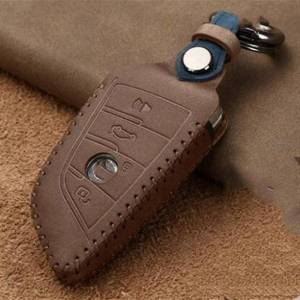 DHgate fashion leather car remote key case cover for 1 2 3 4 5 6 7 series x1 x3 x4 x5 x6 f16 f30 f34 f10 f07 f20 g30 f15 e60 keychains