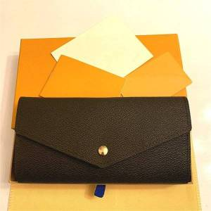 DHgate m60531 sarah wallet designer women's long envelope flap emilie josephine wallet key card coin holder purse mini pochette accessoires cl