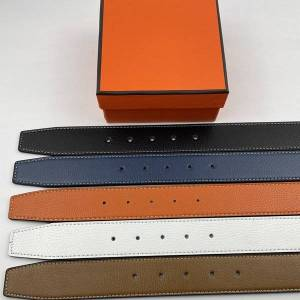 DHgate fashion high-end custom belt leisure gold and silver buckle 6 colors business men's design genuine belts with box