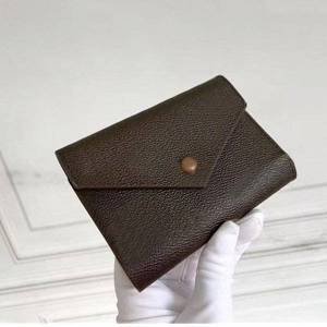 DHgate m41938 victorine purses with box leather multicolor coin purse mini pochette short wallets foldable key coins card holder case accessoires w
