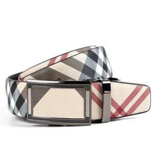 DHgate men automatic genuine leather belt 120 125 cm cowskin grid belts buckles big belts woman waistband promotion
