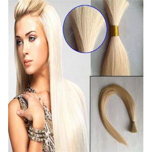 DHgate 100g human braiding hair bulk straight brazilian hair bulk blond bulk 100% natural raw hair