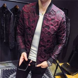 DHgate 2020 quality high new rose jacquard aviator luxury party clothes men's thin m-4xl autumn jacket 0j6c