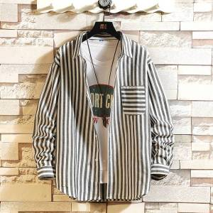 DHgate 2021 casual brand classic striped men's hip hop shirts long sleeves new spring autumn plus oversize m-5xl c3081 a9ec