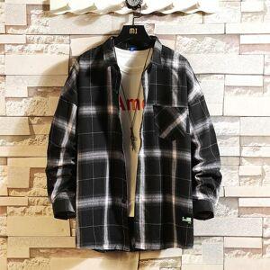 DHgate 2021 casual brand classic black white men's hip hop shirts long sleeves new spring autumn plus oversize m-5xl c3082 ve76