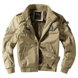 DHgate 2021 air force pilot ma1 bomber jacket new arrival military style thick men fleeing veet khaki green man's winter coat 8j76